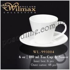 Чашка чайная с блюдцем Wilmax 180 мл WL-993004