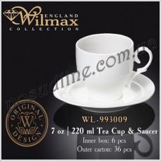 Чашка чайная с блюдцем Wilmax 220 мл WL-993009